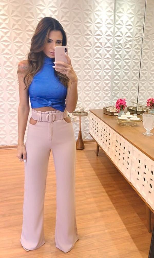 5089c548815ec Calça Pantalona Letícia Cloude - Português (Brasil)